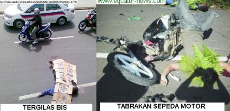 sepedamotor korban