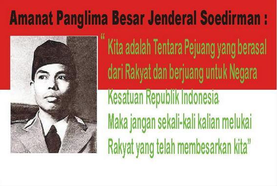 Inilah Amanat Panglima Besar TNI Jenderal Sudirman: