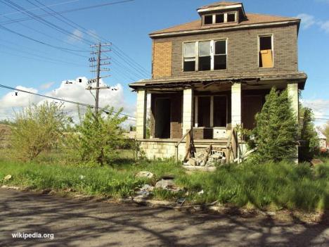 Rumah yang terlantar di Detroit