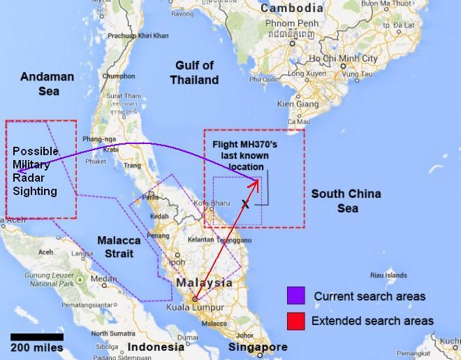 Pesawat Boeing 777-200 milik Malaysia Airlines MH 370 yang hilang ...