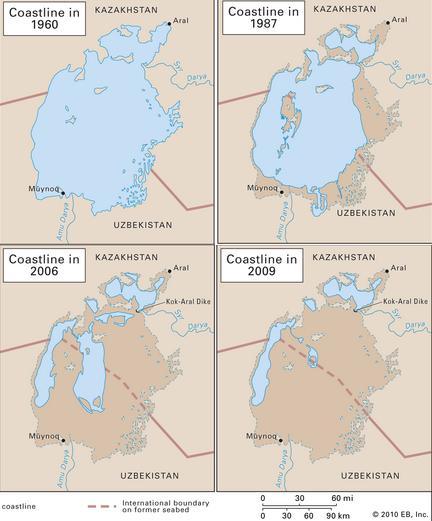 Peta Danau Laut Aral 2