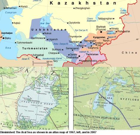 Peta Danau Laut Aral