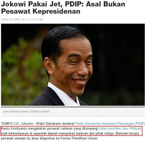 Air Force 1 Jokowi dan PDIP 2
