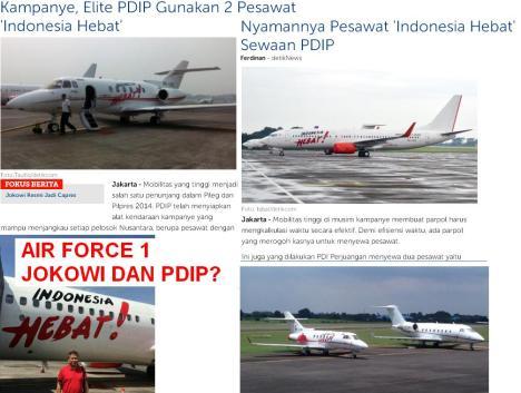 Air Force 1 Jokowi dan PDIP