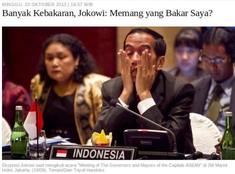 Jokowi Kebakaran