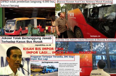 Kisah Busway Impor Karatan