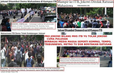 Mahasiswa ITB Tolak Jokowi