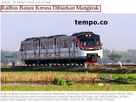 RailBus Mangkrak