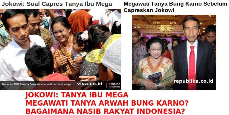Jokowi Tanya Mega