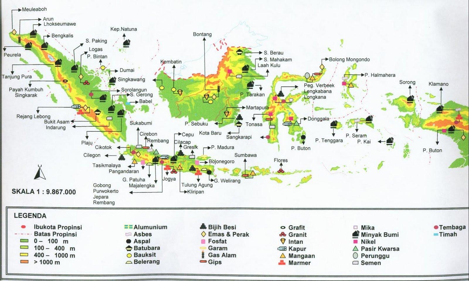 Peta Indonesia Info Barang Tambang Ri Gambar Sketsa