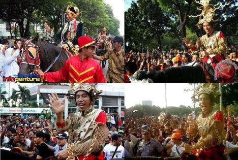 Jokowi Naik Kuda