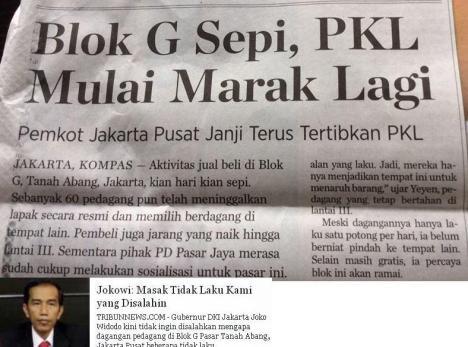 Jokowi Pasar Tanah Abang