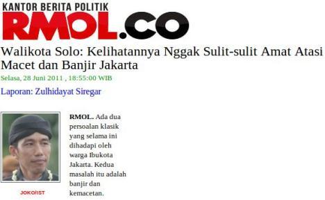 Jokowi tidak sulit