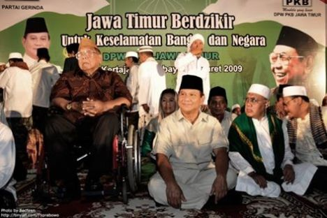 Prabowo and Gus Dur