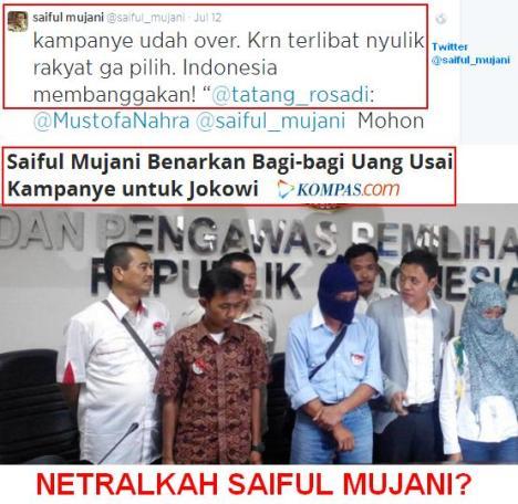 Saiful Mujani Netral