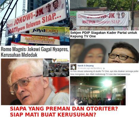 Pendukung Jokowi Siap Mati dan Bikin Rusuh?