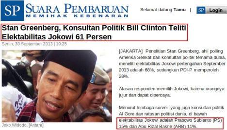 Stan Greenberg Jokowi