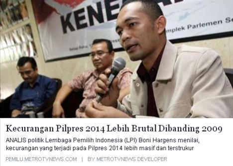 Kecurangan Pilpres 2014