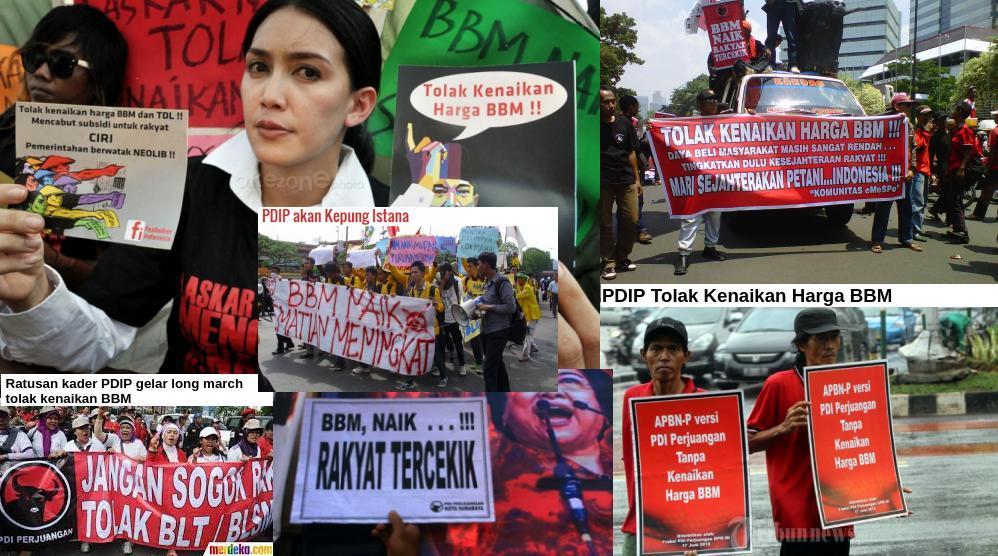 Pdip 2013 Tolak Kenaikan Harga Bbm Sekarang Dukung Info Indonesia