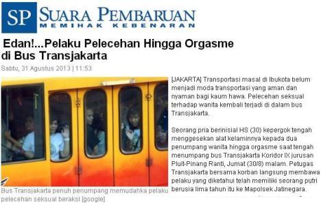 Pelecehan Seksual di Bis Trans Jakarta