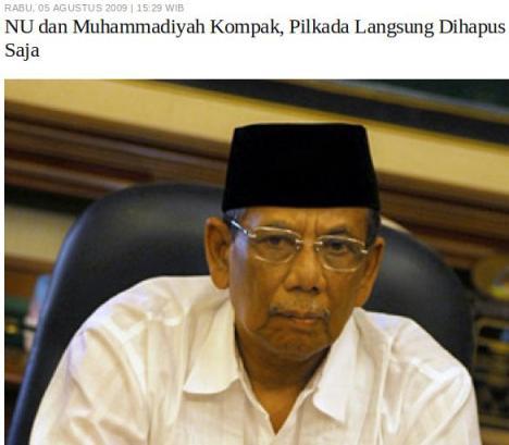 Pilkada NU Muhammadiyah