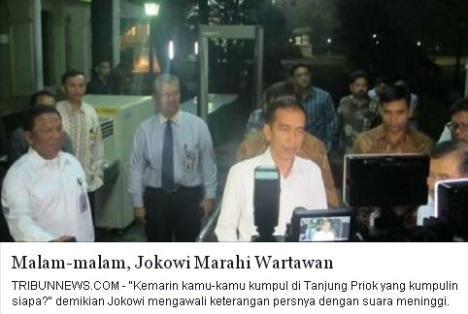 Jokowi Marahi Wartawan