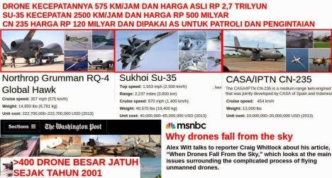 Drone SU-35 dan CN-235