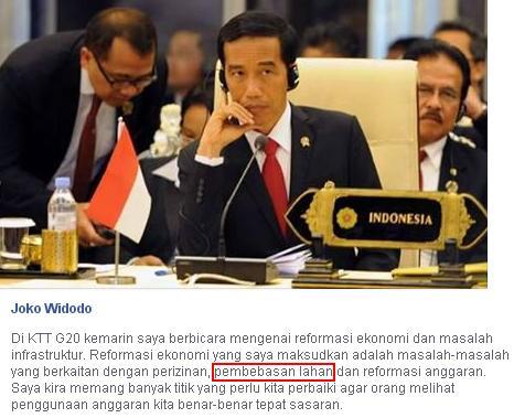 Jokowi Pembebasan Lahan