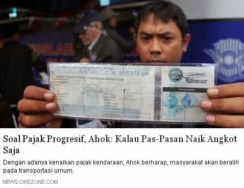 Pajak Tinggi, Ahok: Kalau Pas-Pasan Naik Angkot Saja | Info Indonesia