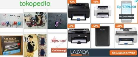 Iklan Tokopedia Lazada
